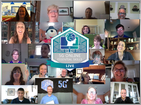 Collage of 5G Live attendees